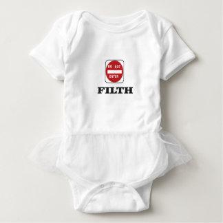 enter not filth baby bodysuit