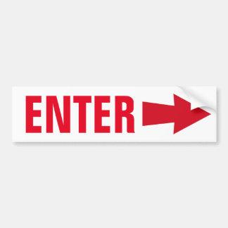 Enter Sign Bumper Sticker