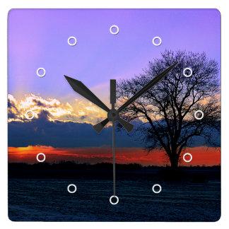 Enter Sunlight Square Wall Clocks