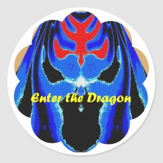 Enter the Dragon zazzle_sticker