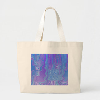 Enter The Flow Abstract Art in Purple and Blue Jumbo Tote Bag