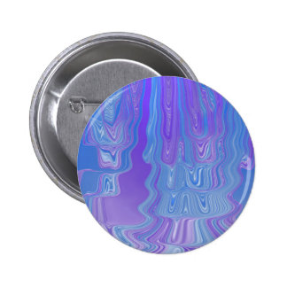 Enter The Flow Abstract Art in Purple and Blue 2 Inch Round Button