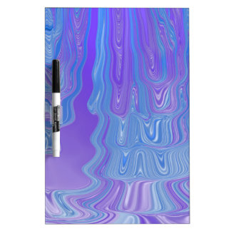 Enter The Flow Abstract Art in Purple and Blue Dry Erase Board