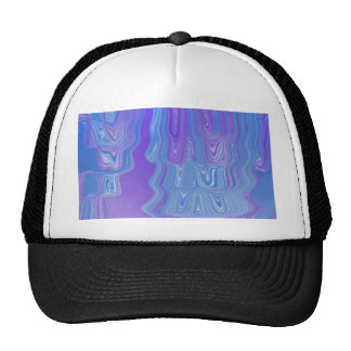 Enter The Flow Abstract Art in Purple and Blue Trucker Hat
