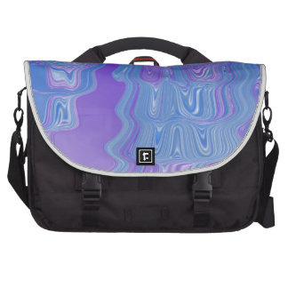 Enter The Flow Abstract Art in Purple and Blue Laptop Computer Bag