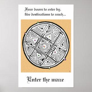 Enter the maze poster