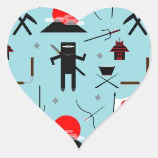 Enter the Ninja Heart Sticker