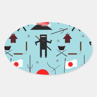 Enter the Ninja Oval Sticker