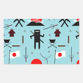 Enter the Ninja Rectangular Sticker