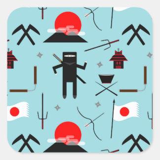 Enter the Ninja Square Sticker
