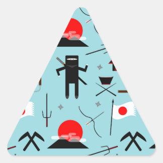 Enter the Ninja Triangle Sticker