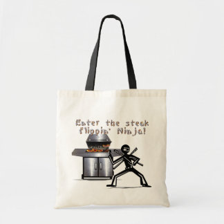 Enter the Steak Flippin' Ninja Tote Bag