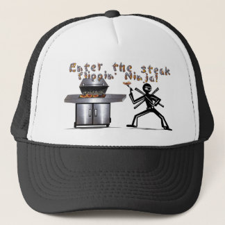 Enter the Steak Flippin' Ninja Trucker Hat