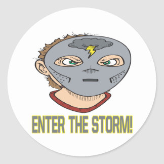 Enter The Storm Classic Round Sticker