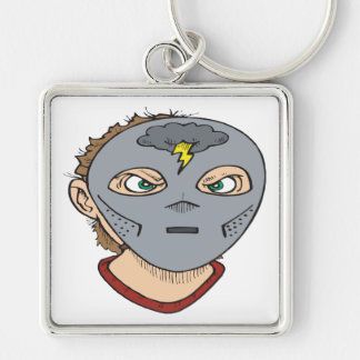 Enter The Storm Silver-Colored Square Keychain