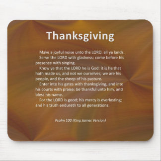Enter With Thanksgiving & Blessing Psalm 100 Mouse Pad
