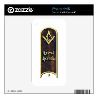 Entered Apprentice Decal For The iPhone 4S