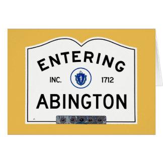 Entering Abington Card