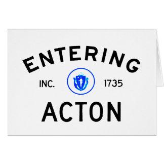 Entering Acton Card
