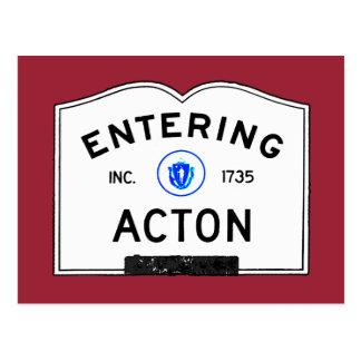 Entering Acton Postcard