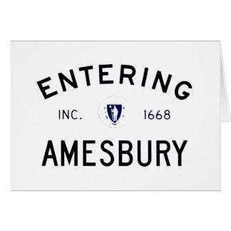 Entering Amesbury Card