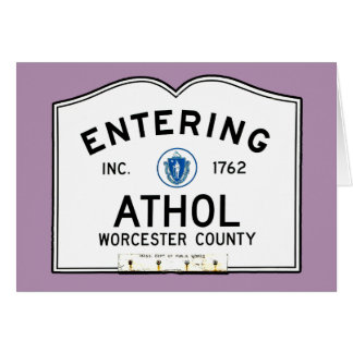 Entering Athol Card
