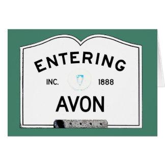 Entering Avon Card