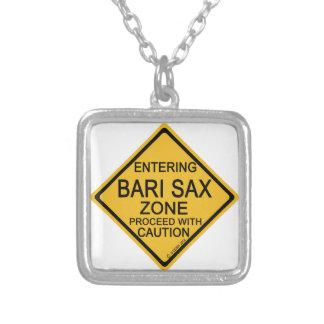 Entering Bari Sax Zone Silver Plated Necklace
