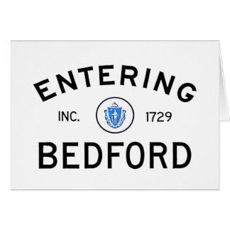 Entering Bedford Card