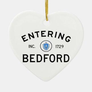 Entering Bedford Ceramic Ornament