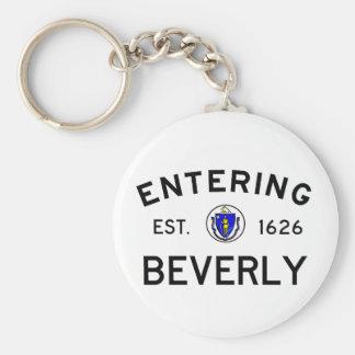 Entering Beverly Keychain