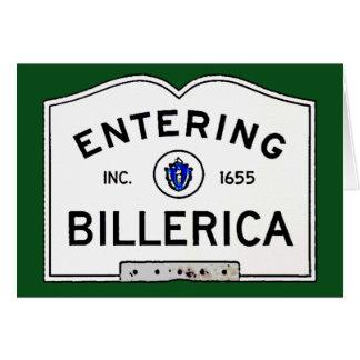 Entering Billerica Card