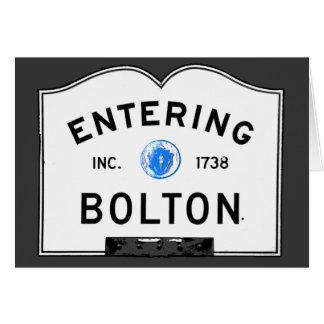 Entering Bolton Card