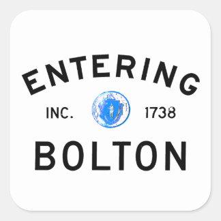 Entering Bolton Square Stickers