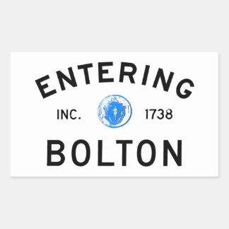 Entering Bolton Rectangle Sticker