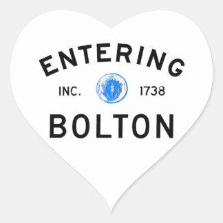 Entering Bolton Heart Sticker