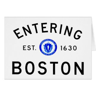 Entering Boston Card