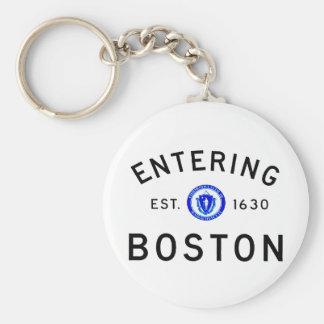 Entering Boston Keychain