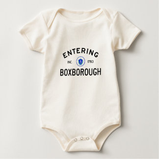 Entering Boxborough Baby Bodysuit