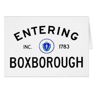 Entering Boxborough Card