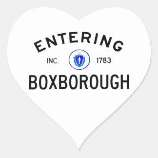 Entering Boxborough Heart Sticker