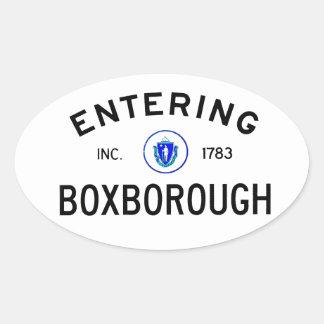 Entering Boxborough Oval Sticker