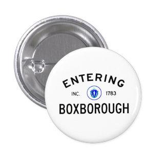 Entering Boxborough Pinback Button