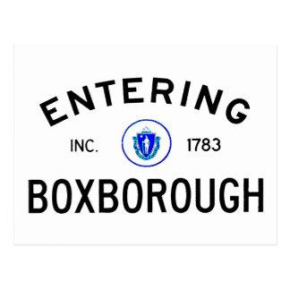 Entering Boxborough Postcard