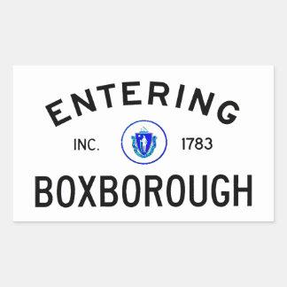 Entering Boxborough Rectangular Sticker