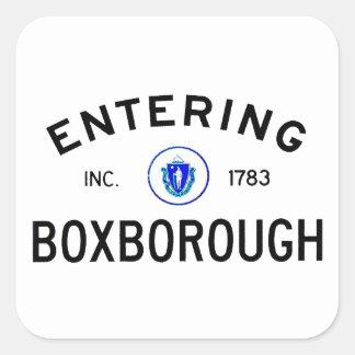 Entering Boxborough Square Sticker