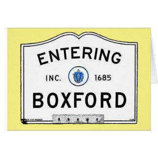 Entering Boxford Card
