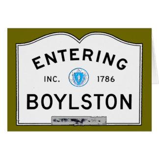 Entering Boylston Card