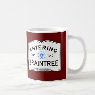 Entering Braintree Classic White Coffee Mug
