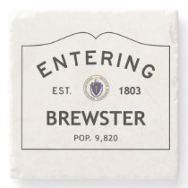 Entering Brewster Marble Coaster Stone Coaster